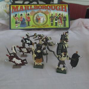 Marlbourough  Zulu War 1879 metal toy warriors w/box