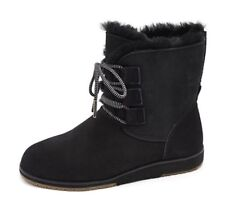 Emu Beach Collection Illaawong Lace Up Sheepskin & Suede Boot RRP £109 QVC BNIB