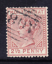 MONTSERRAT QV 1884 SG9 21/2d red-brown - watermark CA - fine used. Catalogue £65