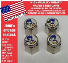 4 Chrome Domed Plymouth Super Bird Road Runner Valve Stem Caps - NO ABS Plastic
