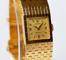 Seltene Rolex Precision Damen Armbanduhr 18 Karat 750 Gold 64,65 g Golduhr