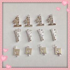 12 Silvertone Graduation Diploma Charms Jewelry Making Earrings Bracelets G3