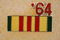 US USA '64 Vietnam Service Ribbon Military Hat Lapel Pin