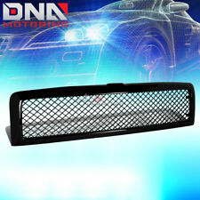 FOR 94-02 DODGE RAM GLOSSY BLACK ABS FRONT BUMPER UPPER MESH GRILL GRILLE GUARD