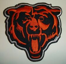 "Chicago Bears Head Embroidered Patch~3 1/4"" x 3 1/4""~Iron Sew On~Nfl~Ships Free"
