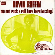 """DAVID RUFFIN ME AND ROCK & ROLL / SMILING FACES SOMETIMES FRENCH 45 PS 7"""""""