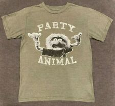 MUPPETS Party Animal T-Shirt MEN'S SMALL S Soft Disney TV Show Movie Retro Vtg