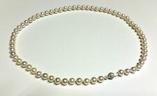 collana perle naturali akoya NATURAL PEARL NECKLACE  chiusura oro GOLD 750/1000