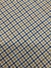 "Worsted 100% Wool Mini Check, Tan, Blue, Beige - 60""- 3 Yard Pieces"