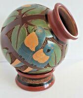 Nicaragua Original Roger Calero 2 Piece Handcrafted Vase South American Pottery
