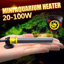 20/40/60/80/100W Mini Aquarium Fish Tank Submersible Water Heater Adjustable