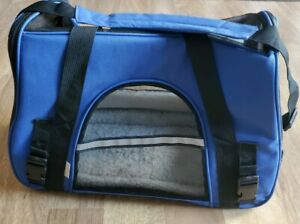 Paws & Pals Dog & Cat Carrier Bag, Blue, Small