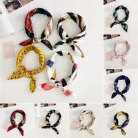 Women Charming Elegant Square Silk Satin Small-Vintage Head Neck Hair Tie Band
