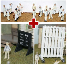 OO Complete Cricket Game Scene, Set of Figures & accessories (Langley) free post