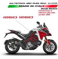 Adesivi per fiancate laterali Red - Ducati Multistrada 1260 Pikes Peak