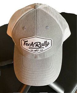 Dell Tech Rally 1984 Grey White Black adjustable cap hat SnapBack One Size