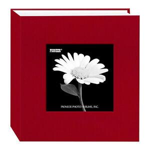 "Pioneer Cloth Frame Photo Album, 4X6"" 100 Photo Apple Red"