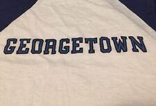 Vintage 70s GEORGETOWN Knitwear 50/50% Baseball Paper Thin T Shirt. Size M Rare.