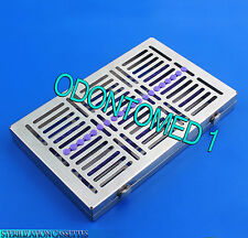 Dental 20 Instruments Sterilization Cassette Tray Racks Turn Lock ST-002