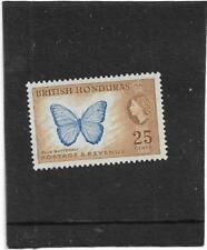 BRITISH HONDURAS 1953 25cents MORPHO PELEIDES {BUTTERFLY} SG 186 L/ MOUNTED MINT