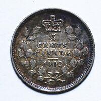 1902 Canada Five 5 Cents - Edward VII - Lot 1237