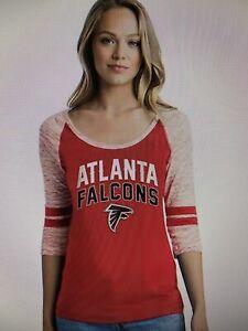 Atlanta Falcons NFL Women's Emblem 3/4 Sleeve Tee Shirt Size Medium - NWT