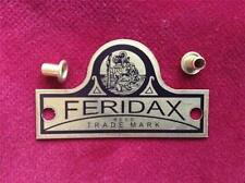 FERIDAX seat badge as fitted to VINCENT HRD motorcycles. COMET, SHADOW, RAPIDE