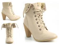 Botas de mujer botines de piel color principal beige
