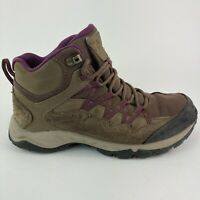 Columbia Boots Womens Size 6.5 Brown / Wine Hiking Trail Walking Mid Hi Shoes
