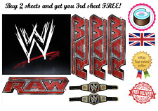 **BUY 2 GET 3** EDIBLE CAKE TOPPER WWE WRESTLING SET QUALITY A4 ICING PAPER