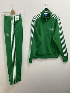 Adidas Originals ADI-Firebird Tracksuit Green White Size L