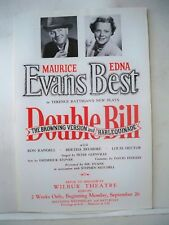 DOUBLE BILL Herald MAURICE EVANS / EDNA BEST Tryout BOSTON 1949