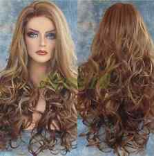 New Women Big Spiral Wave Wig Long Full Hair Mix Color Cosplay Wig Sexy Charming