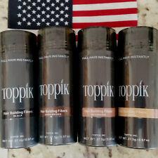 Toppik Pelo Edificio Fibras 27.5 gramos de color negro, marrón oscuro, marrón claro o mediano