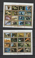 Faune sauvage  Ajman State 2 feuilles 16 petits timbres oblitérés/ T1456
