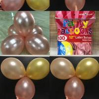 Nice 5/10/20x Rose Gold Balloon Decoration Latex Balloon Wedding Birthday Party