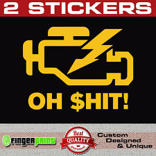 CHECK ENGINE LIGHT sticker decal JDM drift Nismo Honda VTEC Fail VW Audi OBD