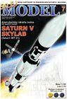 SATURN V Skylab US launch rocket , cut-out paper model kit 1:150  laser