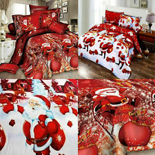 Father Christmas Xmas Duvet Cover Royal Santa Bedding Set With Pillowcases