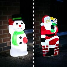 Santa or Snowman LED Blow Mould Christmas Figure | Character Decoration