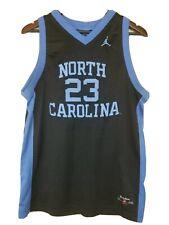 Jordan retro jersey 23 North Carolina National Champions sz L 16-18 black w blue