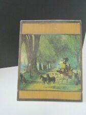 Vintage Lamp Shade Paper Victorian Stage Coach And Horses