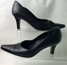 Gabor Black Court Shoes Faux Leather Square Toe UK 7 Used Unboxed Heels W729