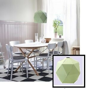 "IKEA Lamp Shade JOXTORP Light Green Pendant 17""Hack'Craft Project Cardboard NEW"