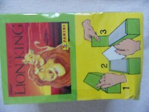 PANINI THE LION KING ALBUM STICKERS SEALED BOX 100 PACKETS Brand new Disney
