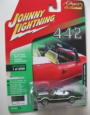 1972 Oldsmobile Cutlass CABRIO GREEN * RR * Johnny Lightning Auto World 1:64 NUOVO