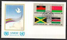 United Nations NY 1983 FDC cover Flags of Malawi Belorus Jamaica Kenya