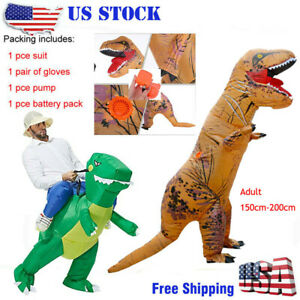 Inflatable Dinosaur Adult kid Fancy Costume Jurassic Park T-Rex Halloween Party