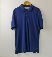 Sportscraft Mens Navy Polo Shirt Collared Short Sleeve Size L Casual Wear Cotton