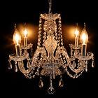 4 bracci Lampada da soffitto pendente cristallo Luce moderna Lampadario elegante